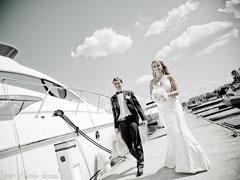 Романтическая свадьба на яхте