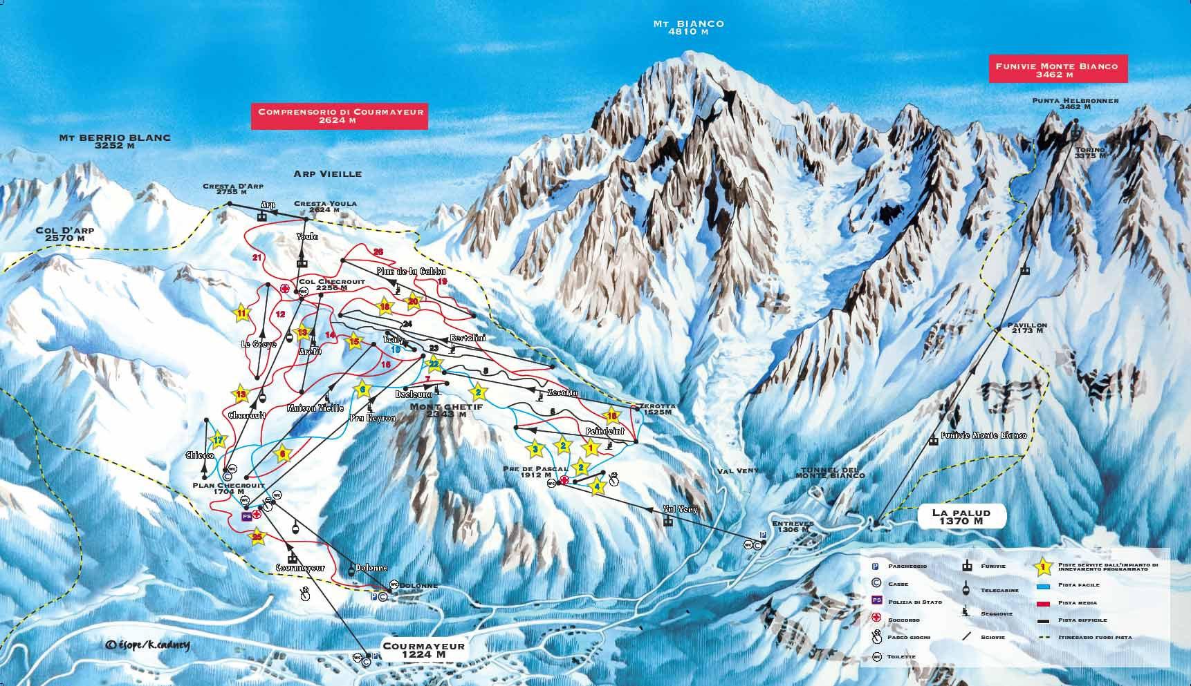 Курмайор горнолыжный курорт Италии Фото схема трасс отели отзывы и цены
