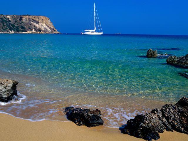 Парусник у побережья Занте, Закинтос Греции